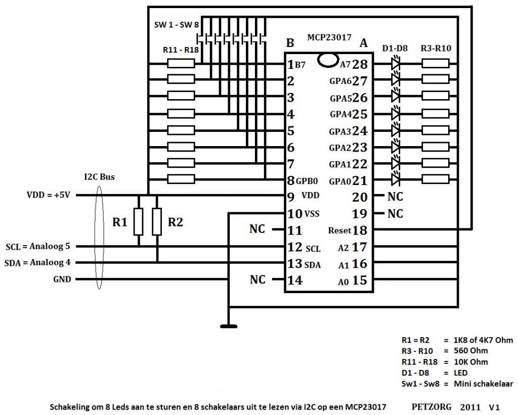 mcp23017 datasheet  u2013 aansluiten meterkast schema